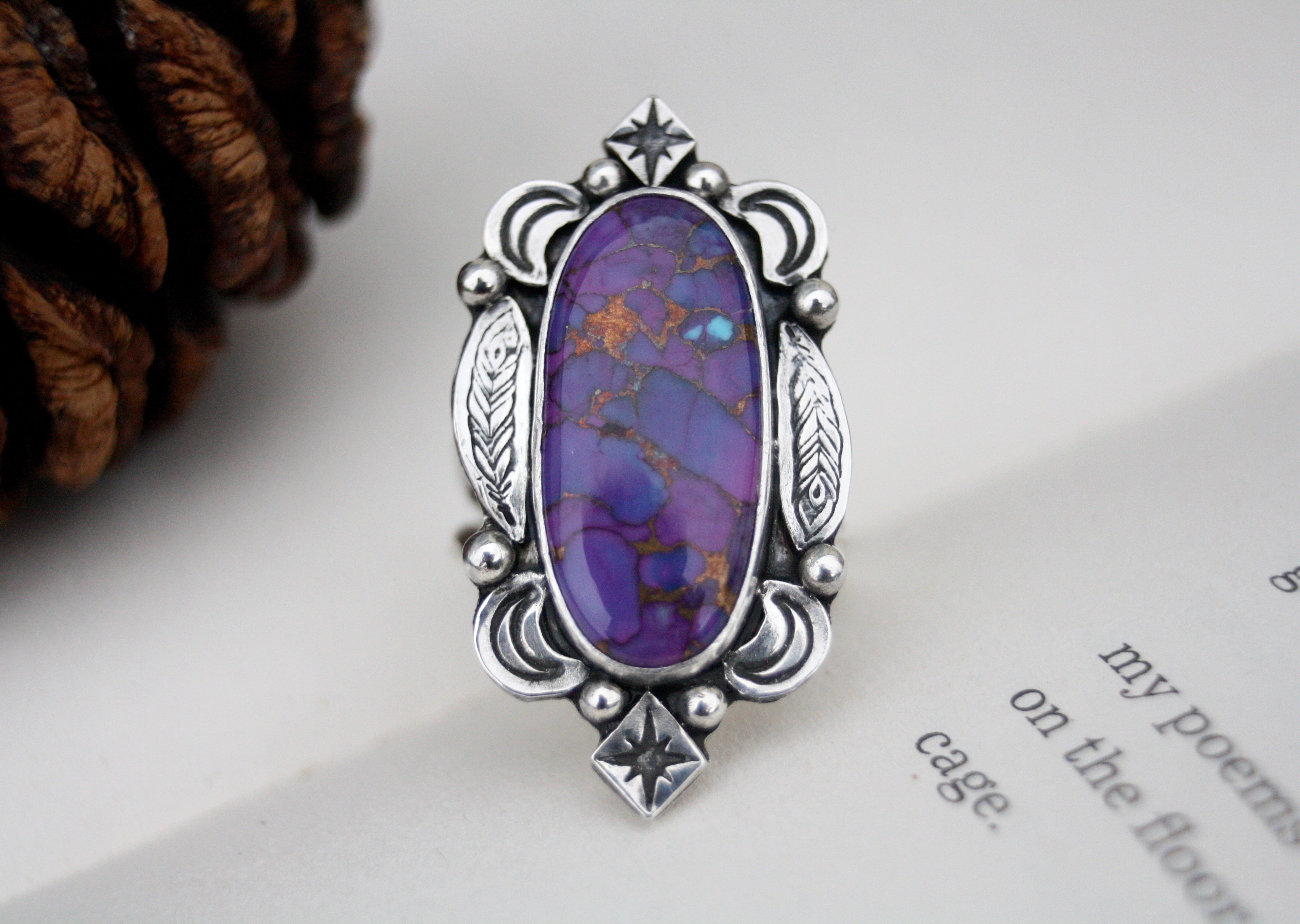 The Feather of Truth - Turquoise Ring