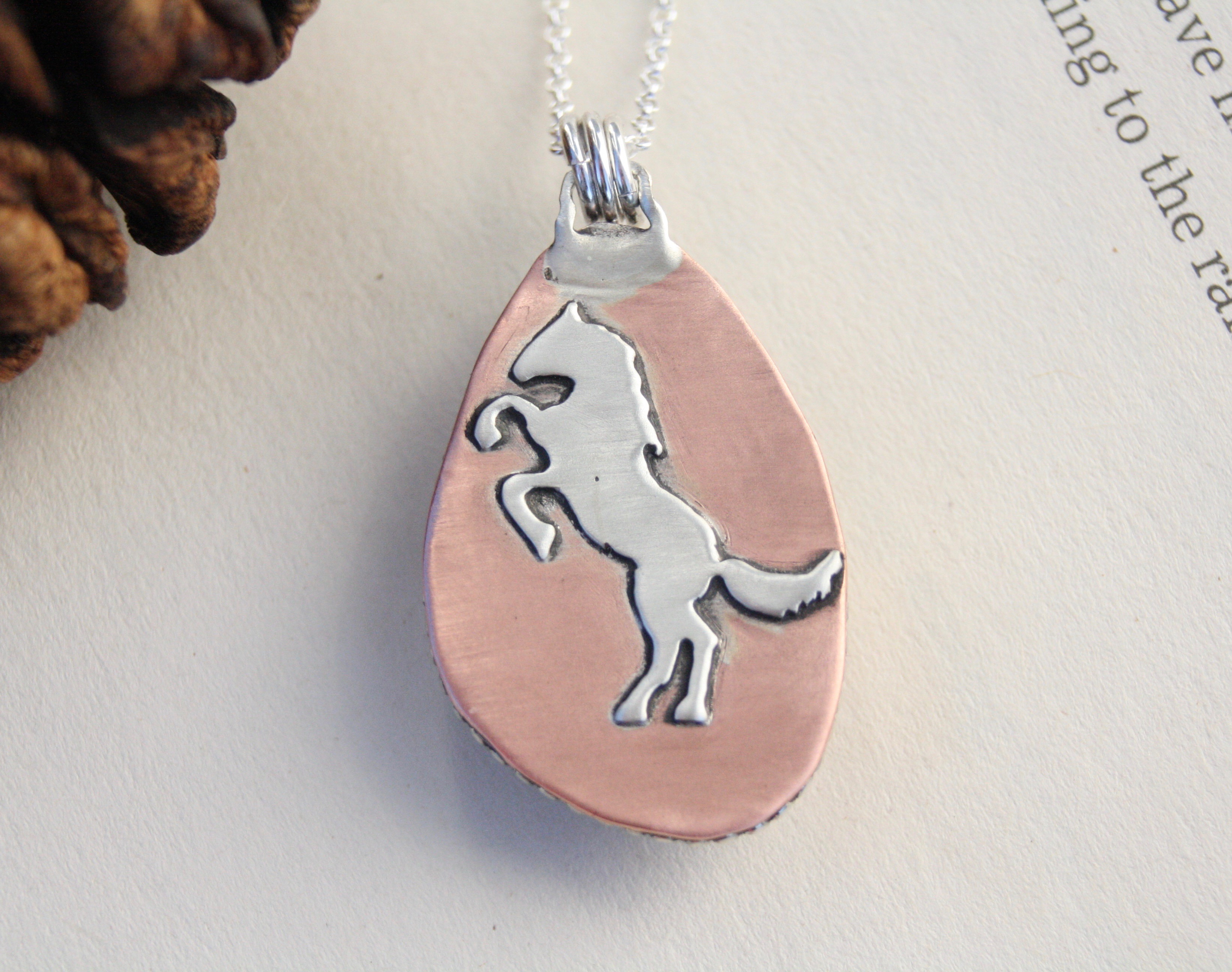 White Buffalo Turquoise Mustang Necklace