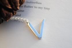 V Silver Necklace