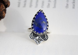 The Feather of Truth - Lapis Lazuli Ring