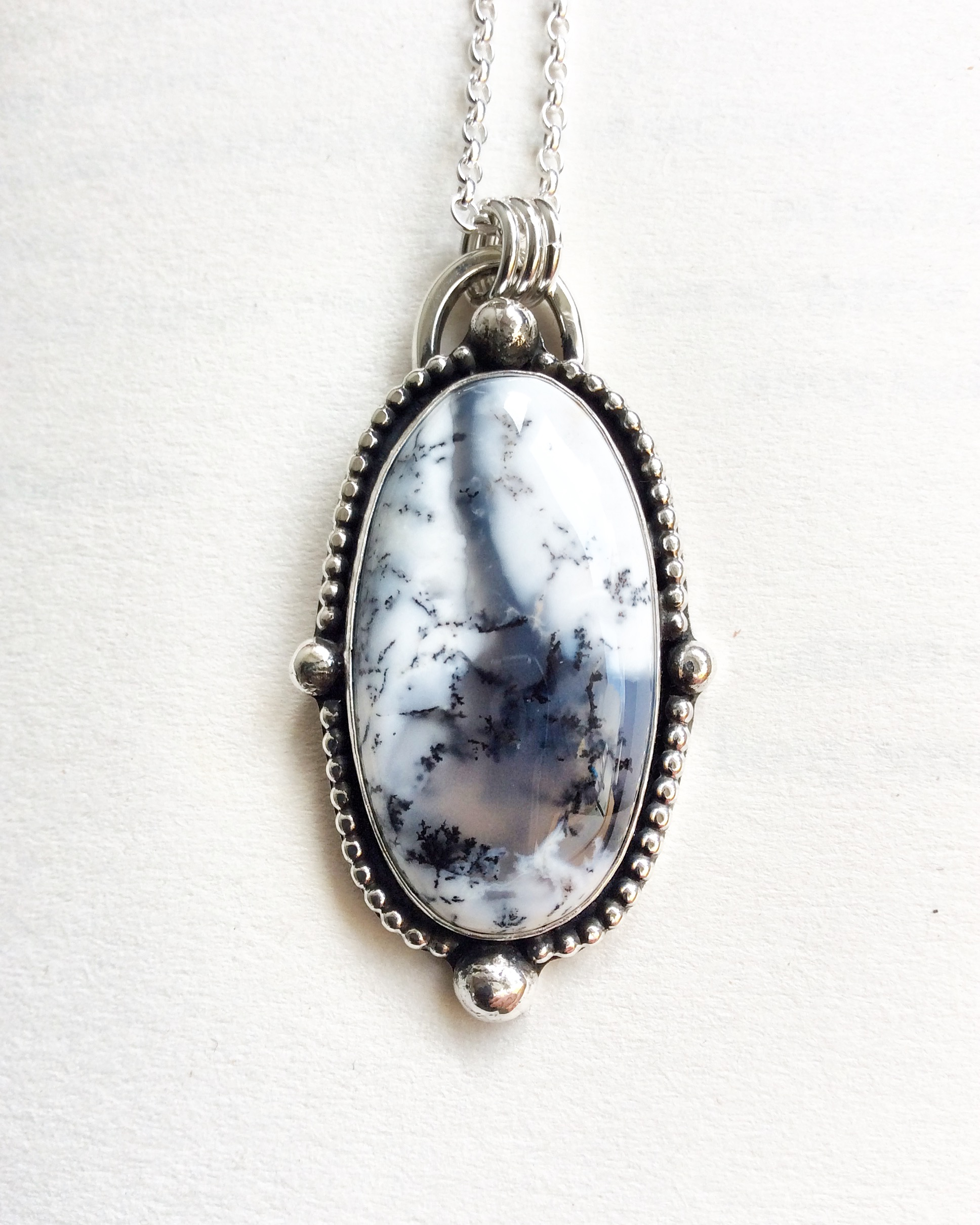 Opal Dendrite Necklace