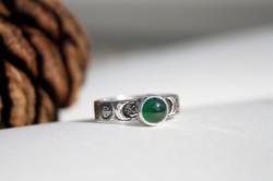Emerald - Crescent Moon and Serpent