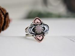 The Laughing Heart - Rose Quartz Ring