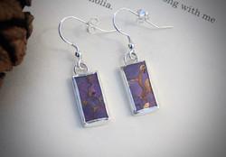 The Doors of Perception - Purple Mojave Turquoise Earrings