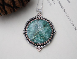 Like A Wave From The Ocean - Mermaid Kyanite With Fuchsite Necklace