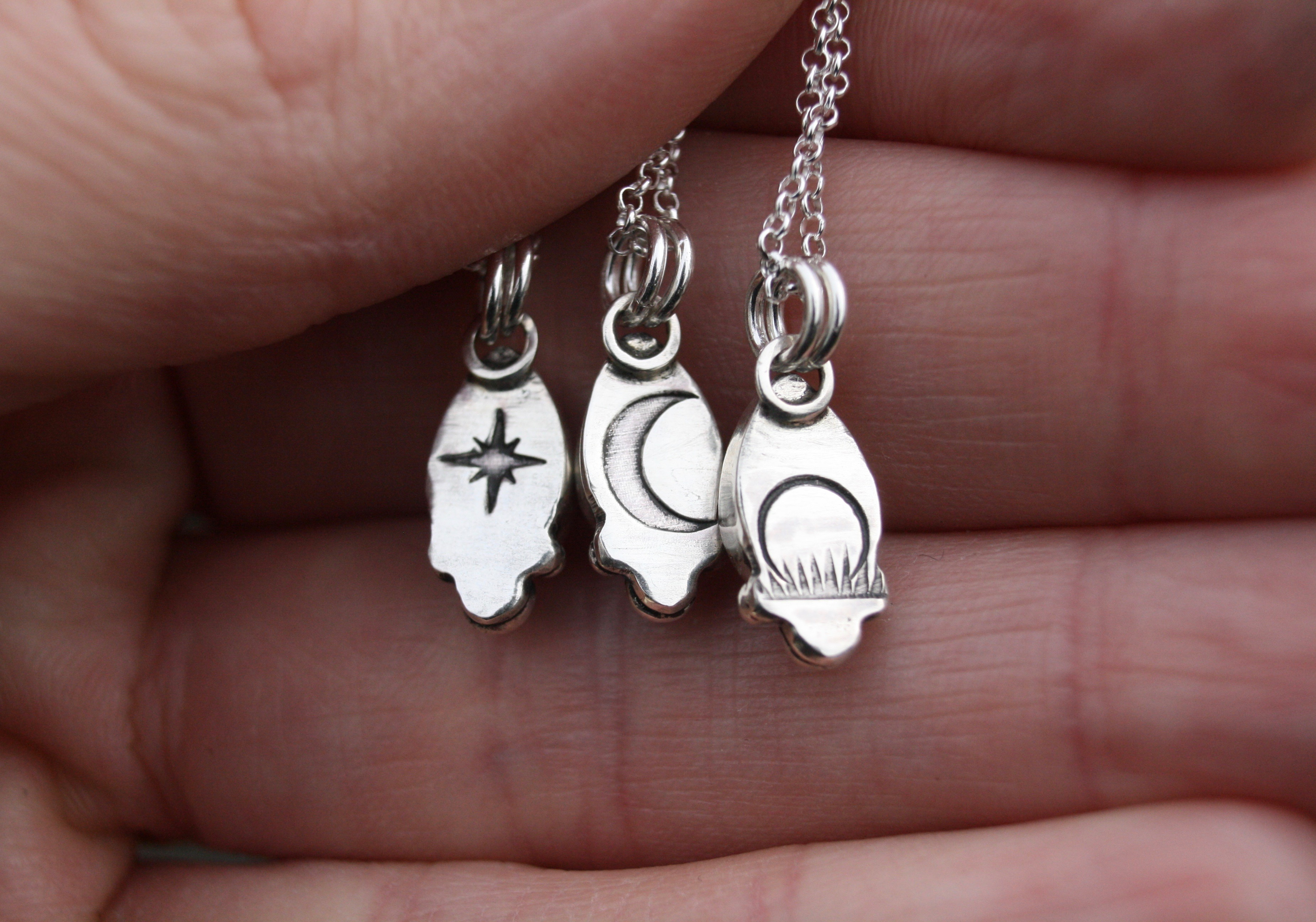 Matching Moonstone Necklaces (Back)