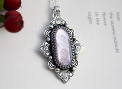 Be A Lamp Unto Yourself - Lepidolite Necklace