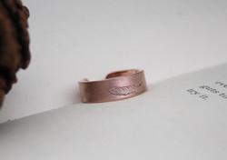 Amor Fati - Adjustable Copper Ring