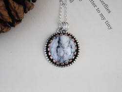 Mustang - White Buffalo Turquoise Necklace