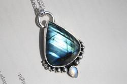 Labradorite and Moonstone Necklace
