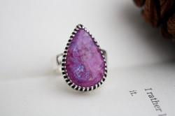 Pink Moonstone Ring