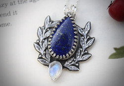 Intuition - Lapis Lazuli and Moonstone Necklace