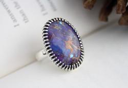 Purple Turquoise Ring