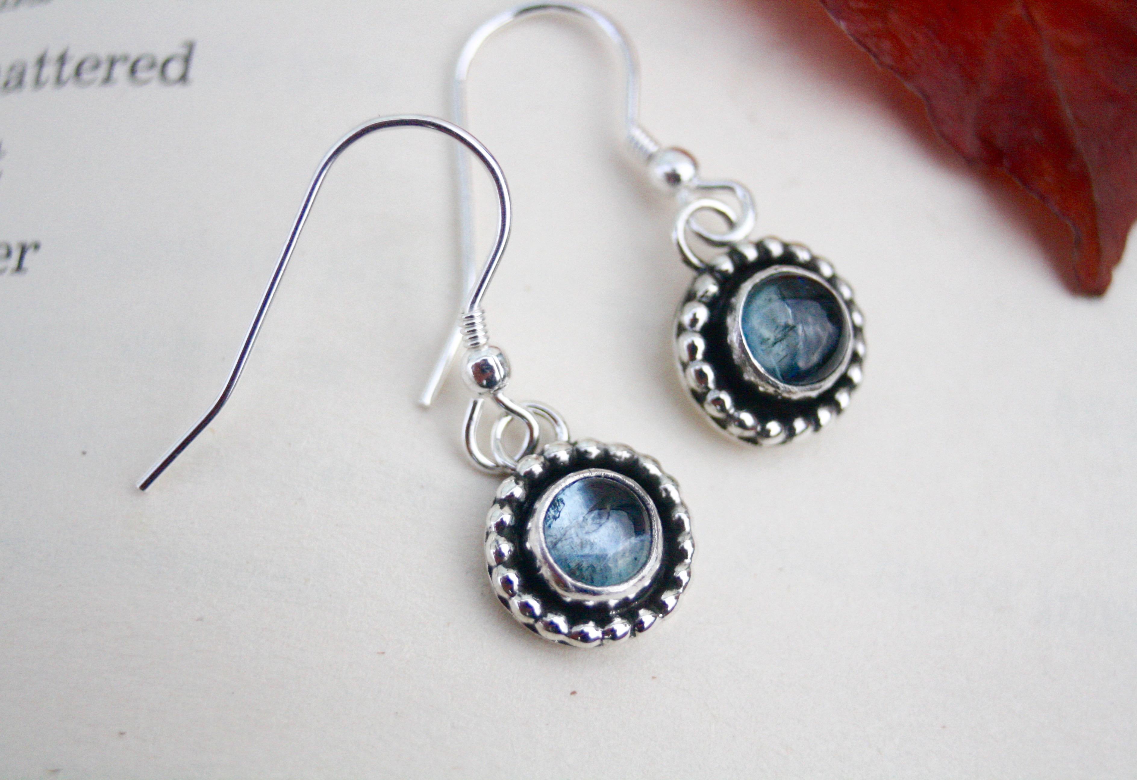 Ocean Drops - Aquamarine Earrings