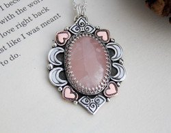 The Laughing Heart - Rose Quartz Necklace