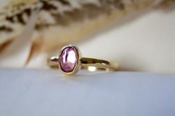 Pink Topaz - 9ct Gold Ring