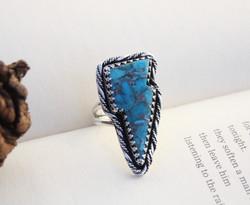 Turquoise Lightning Bolt Ring