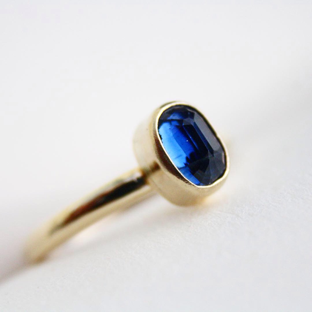 Kyanite and 9ct Gold Ring