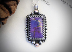 The Doors of Perception - Purple Mojave Turquoise Necklace