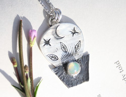 The Cosmic Gardner - Opal Necklace