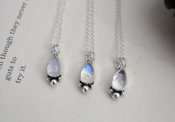 Matching Moonstone Necklaces