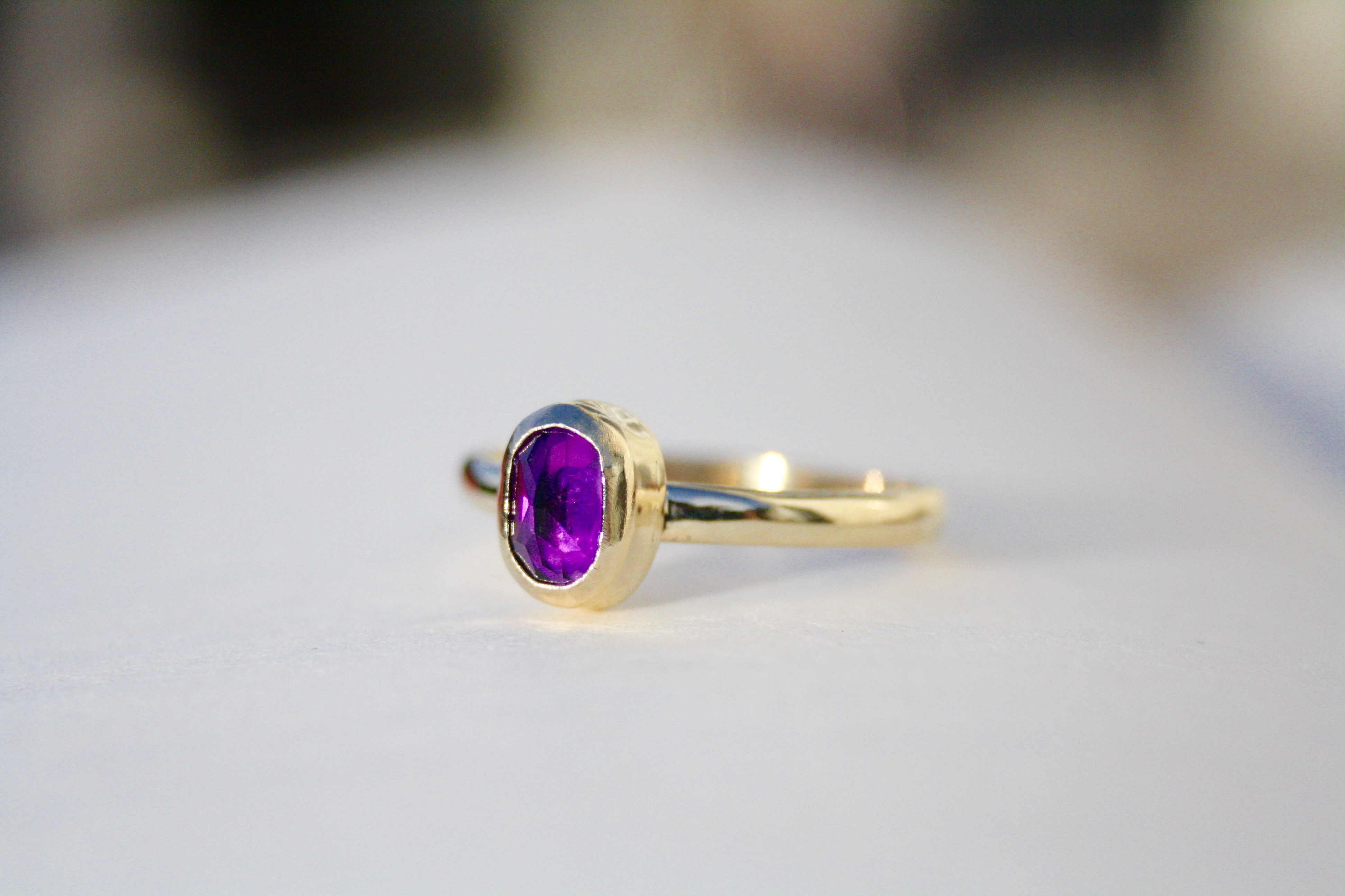 Amethyst - 9ct Gold Ring