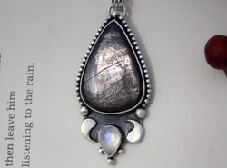 Yin Yang - Hypersthene and Moonstone Necklace