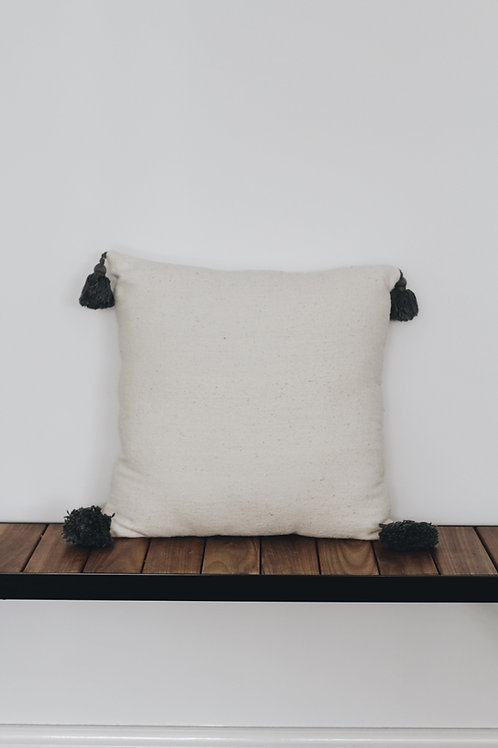 CUSHION COVER - TASSLE GREY