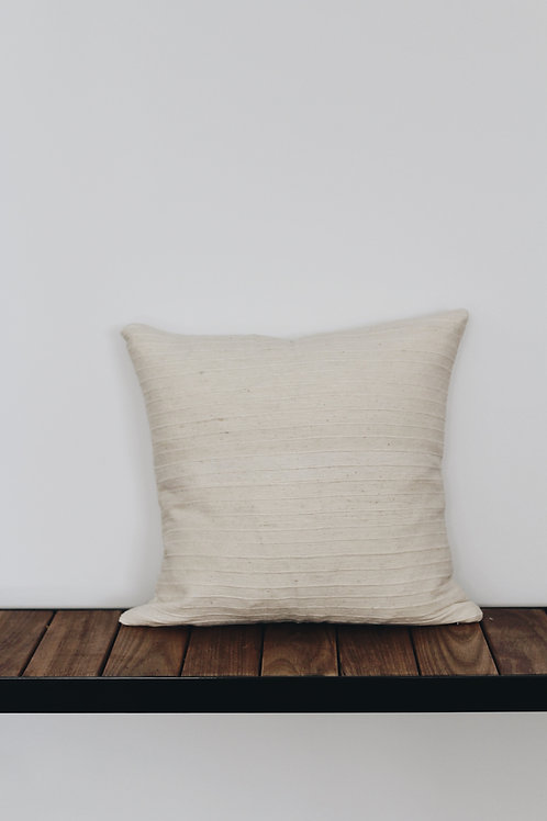 CUSHION COVER - NATURAL RIBBED