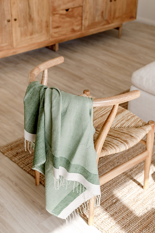 HAND LOOMED THROW - FOREST