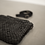 Thumbnail: WOVEN ITALIAN LEATHER BAG - BLACK