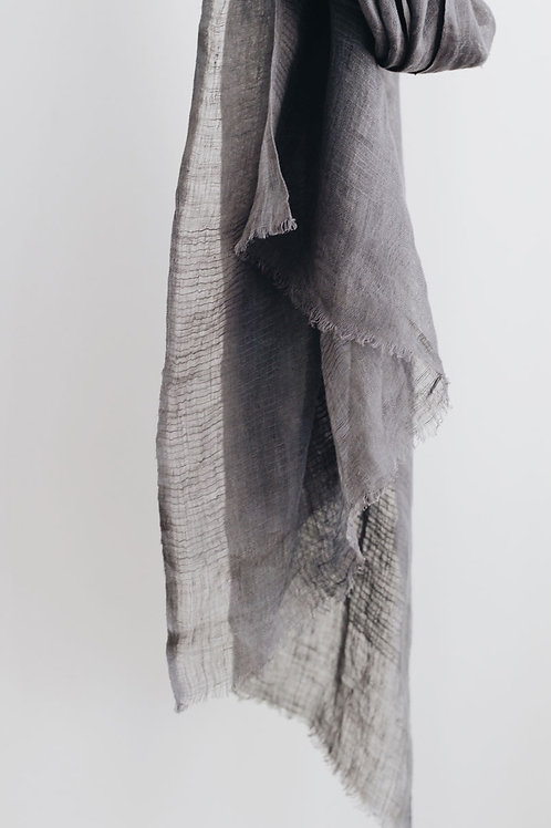 Signature Linen Scarf - Pebble Grey