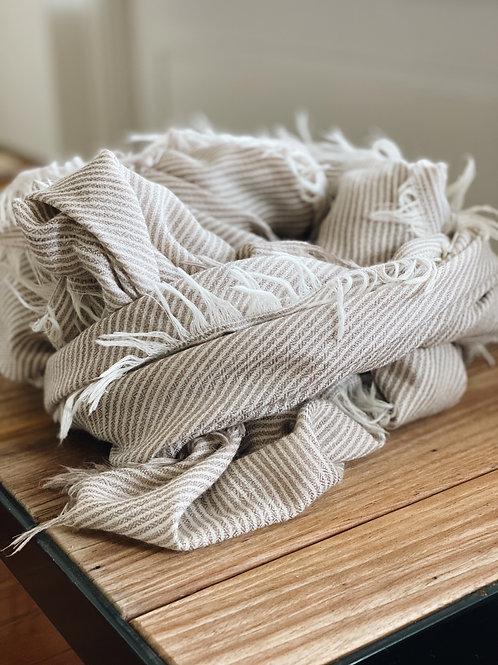 Wool Shawl - Natural/Ivory