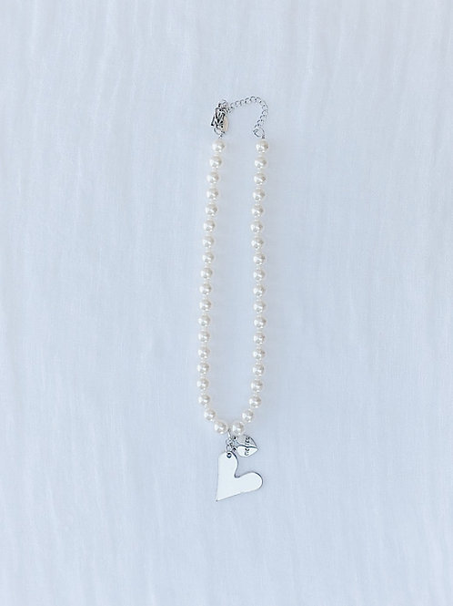 PEARL NECKLACE WITH HEART