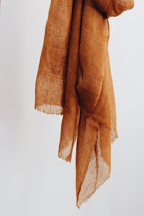 Signature Linen Scarf - Clay