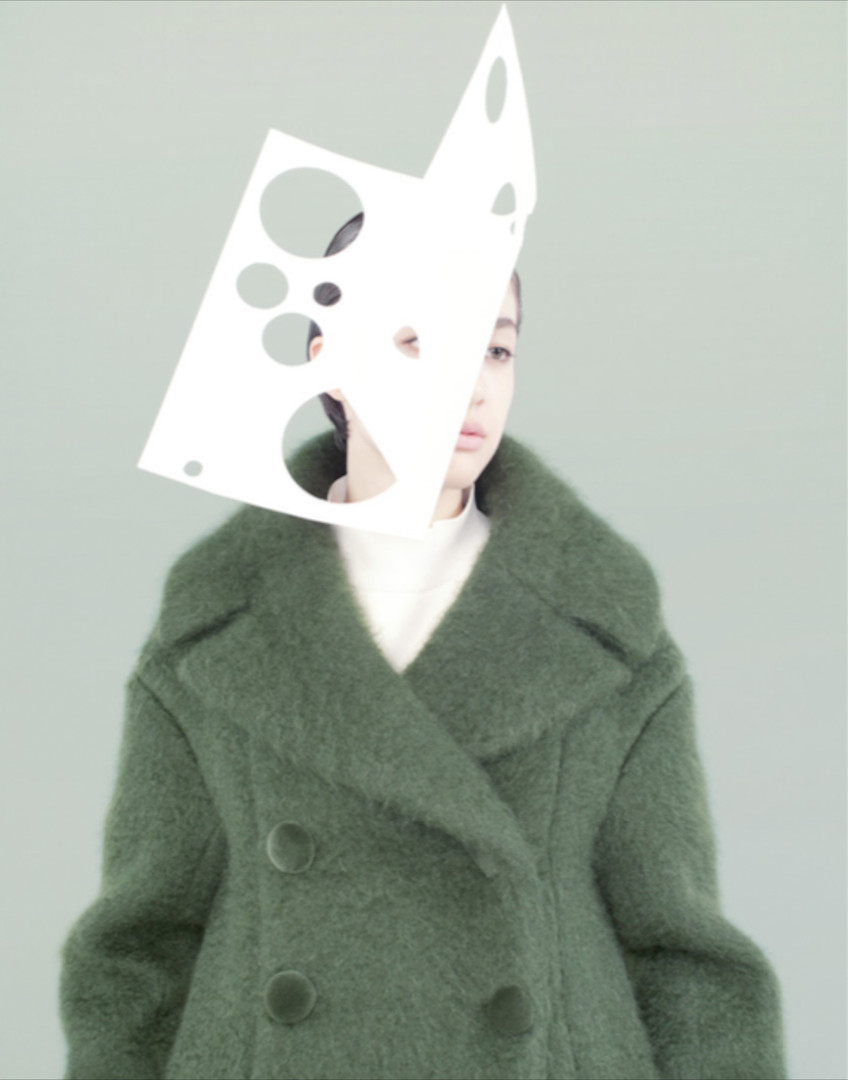 Papier collé. Ginza Magazine (model: Kouka Webb) | Ina Jang | 2013