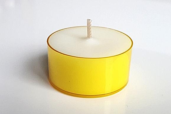 Gelbe Teelichter Sojawachs