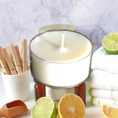 Bio Duft-Teelichter Fresh Linen