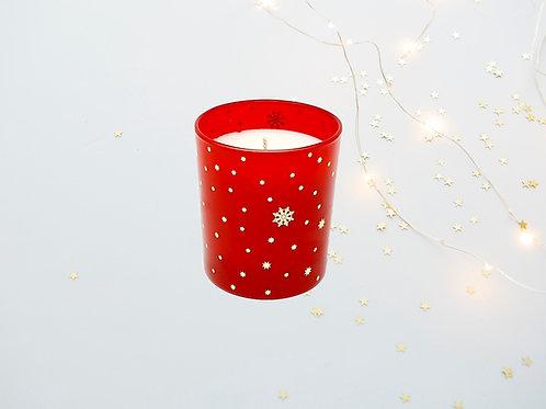 Colors Noel Rouge Bio Duftkerze weihnachtskerze kaufen weihnachten schwarz schneeflocken sternen