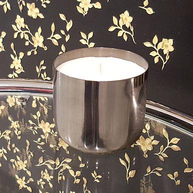 Metallum Silber Dunkel+Glatt - Bio Kerze