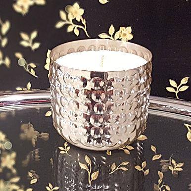 Metallum Silber Perlen - Bio Kerze