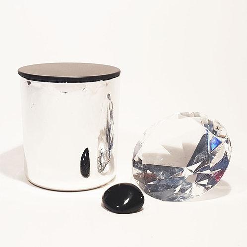 GLAMOUR - Bio Valentines Kerze silber schwarz deckel kaufen schweiz