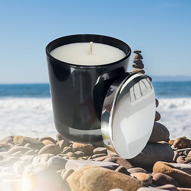 Frieden Black - Aromatherapie Bio Duftkerze