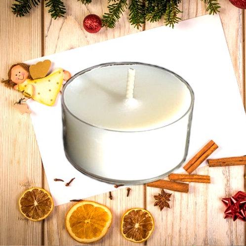 Bio Duft-Teelichter frische Weihnachten 5h Stunden 12 Stück