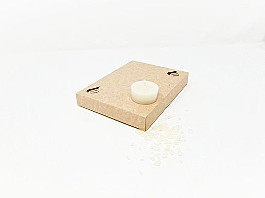 Ersatz Teelichter aus Bienenwachs Weiss 6h (EU)
