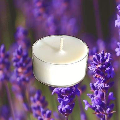 Bio Duft-Teelichter Lavendel & Minerals