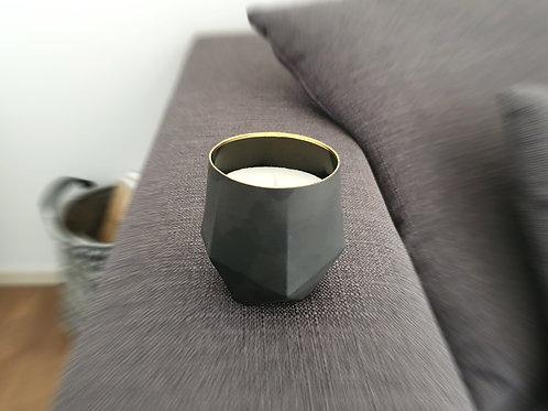 Artiste Noir Bio Kerze by SPIRIT schwarze geometrische design kerze kaufen in der schweiz online shop gratis lieferung