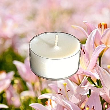 Bio Duft-Teelichter Schmetterlingslilie & Ylang
