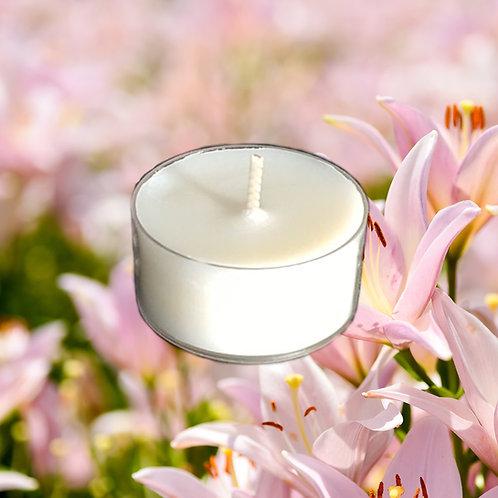 Bio Duft-Teelichter Schmetterlingslilie & Ylang Ylang 5h Stunden
