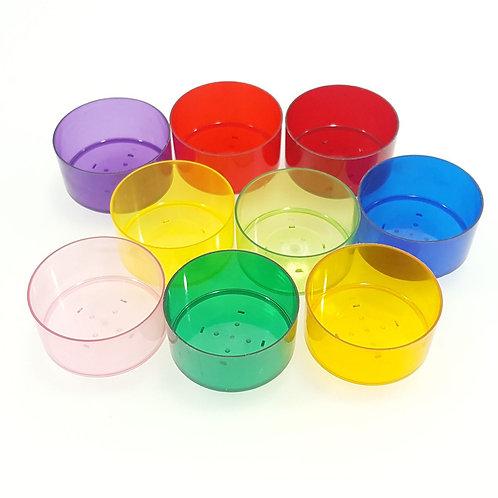 Teelichthüllen kaufen - diverse Farben in der Schweiz online shop Kunststoff speziell Rechaud Hüllen